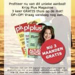 Ontvang 3 maanden gratis Plus magazine
