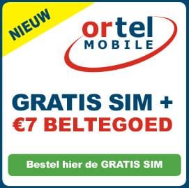 Nieuwe Gratis SIM €7