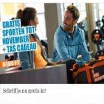Gratis inschrijven, gratis sporten tot november en gratis tas