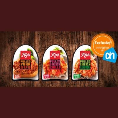 Gratis proberen Kips Pulled Pork of Chicken