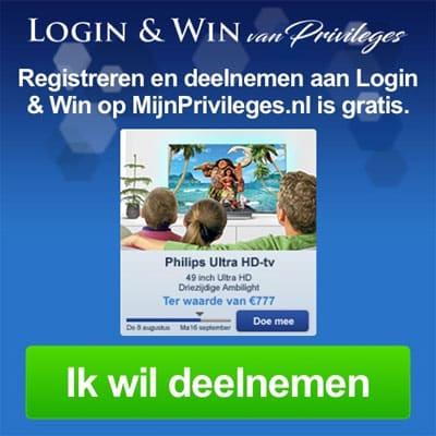 Gratis meedoen aan Login & Win