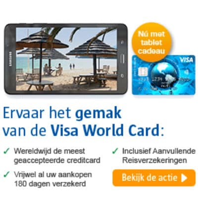Samsung Tablet Cadeau Bij Visa World Card